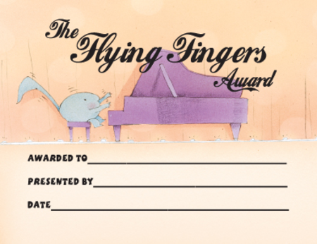 Award Certificates Mini - Flying Fingers Award