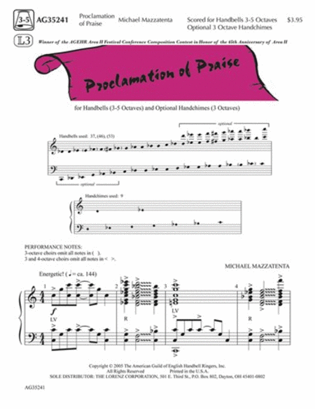 Proclamation of Praise