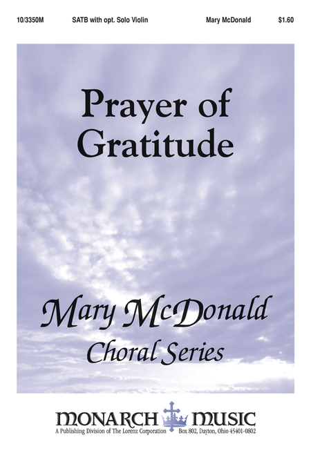 Prayer of Gratitude