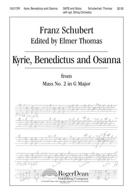 Kyrie, Benedictus and Osanna