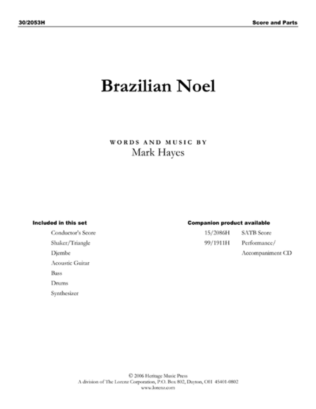 Brazilian Noel - Rhythm and Percussion Score and Parts