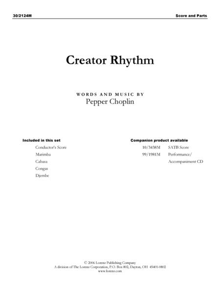 Creator Rhythm - Rhythm and Marimba Score and Parts