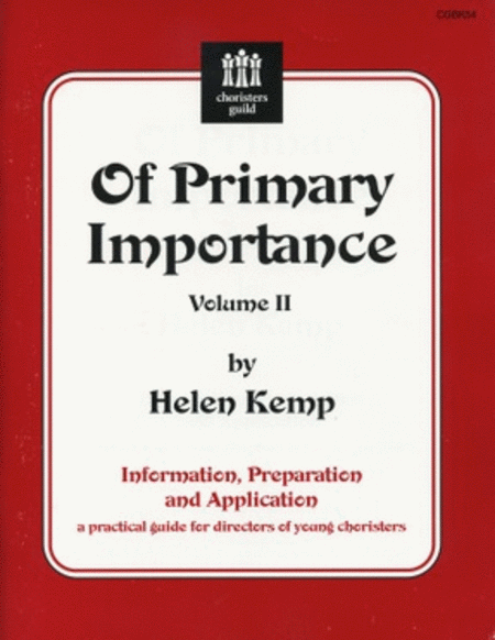 Of Primary Importance, Vol. II - Demo/Accompaniment CD