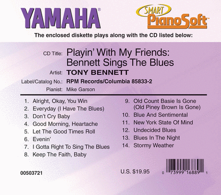 Tony Bennett - Playin' with My Friends: Bennett Sings the Blues - Piano Software