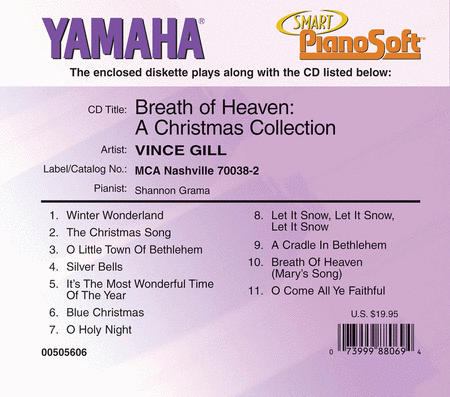 Vince Gill -!Breath of Heaven: A Christmas Collection - Piano Software