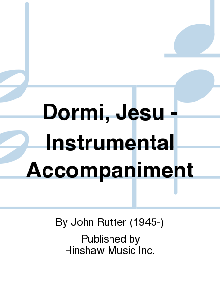 Dormi, Jesu - Instrumental Accompaniment