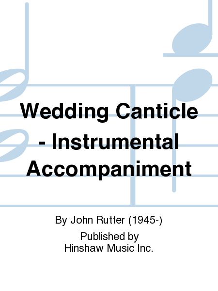 Wedding Canticle - Instrumental Accompaniment