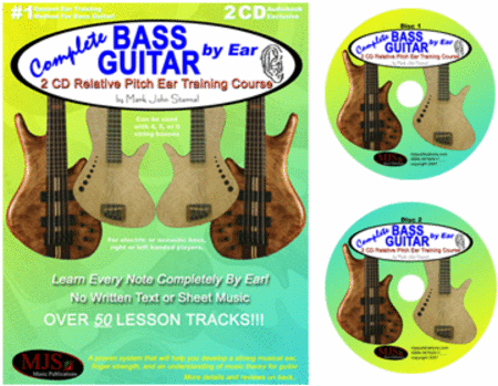 Complete Bass Guitar By Ear - 2 CD Relative Pitch Ear Training Course