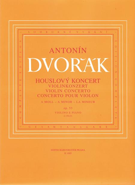 Concerto fur Violine und Orchester a minor op. 53