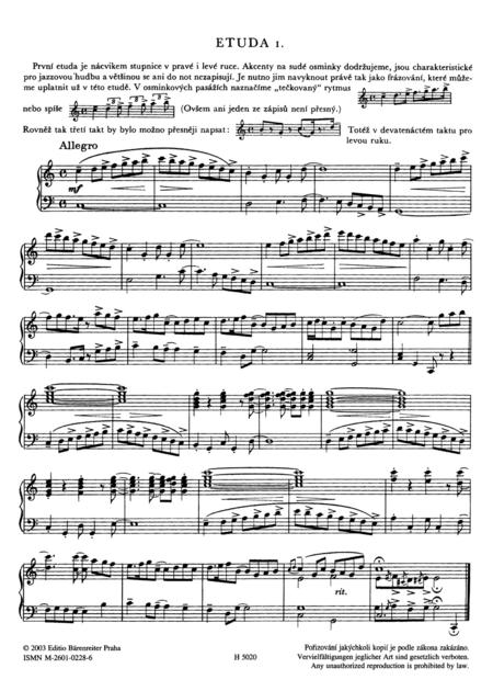 Jazz-Etueden fuer Klavier 1