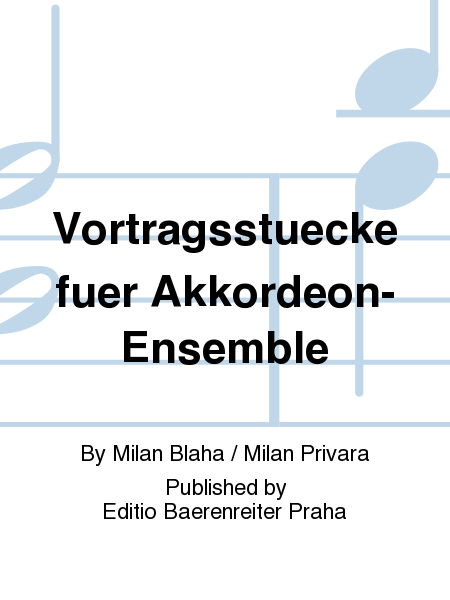 Vortragsstuecke fuer Akkordeon-Ensemble
