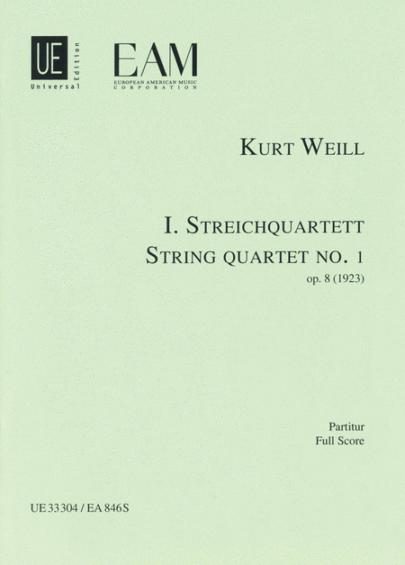 String Quartet No. 1, Op. 8