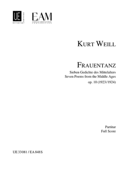 Frauentanz, Op. 10 (1923/24) - Seven Poems from the Middle Ages