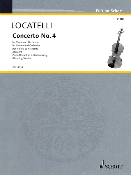 Concerto No. 4 for Violin and Orchestra, Op. 3