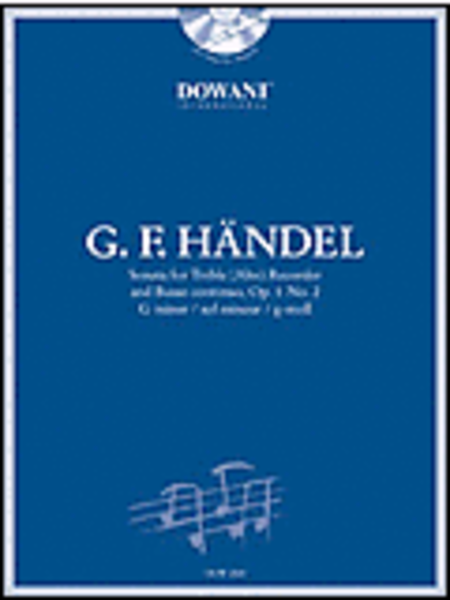 Handel: Sonata in G Minor, Op. 1, No. 2 for Treble (Alto) Recorder and Basso Continuo