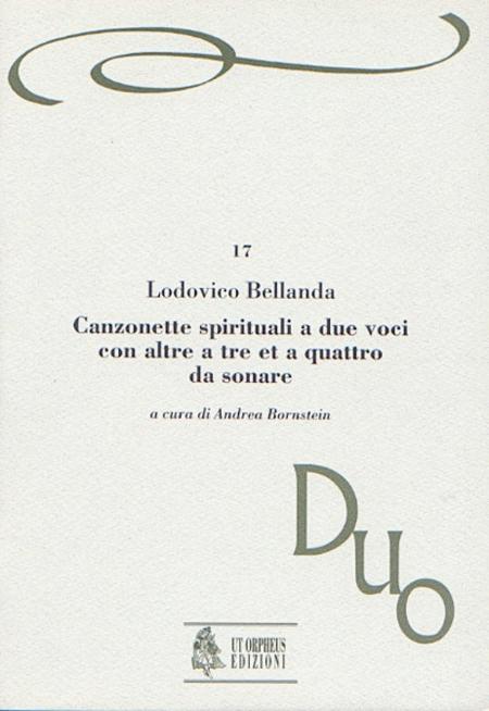 Canzonette spirituali a due voci con altre a tre et a quattro da sonare (Verona 1599)