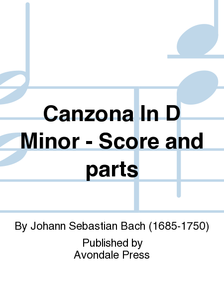 Canzona In D Minor - Score and parts