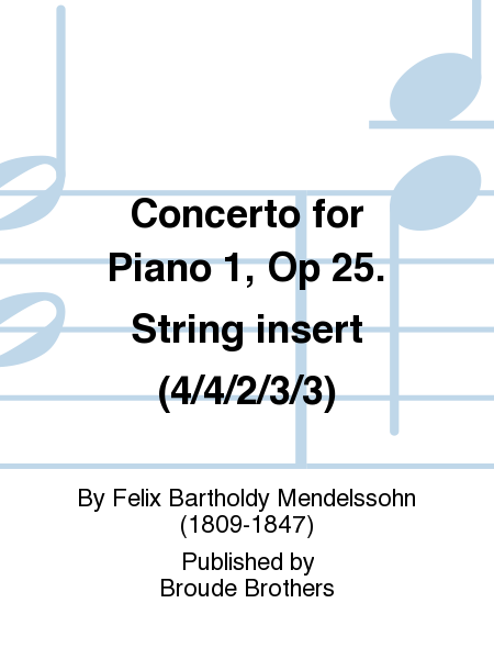 Concerto for Piano 1, Op 25. String insert (4/4/2/3/3)