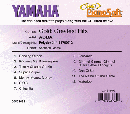 ABBA - Gold: Greatest Hits - Piano SoftwareABBA - Gold: Greatest Hits - Piano Software