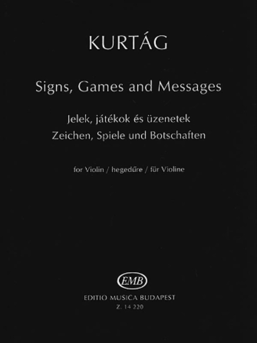 Signs, Games and Messages for Violin