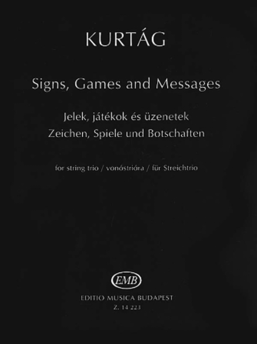 Signs, Games and Messages for String Trio