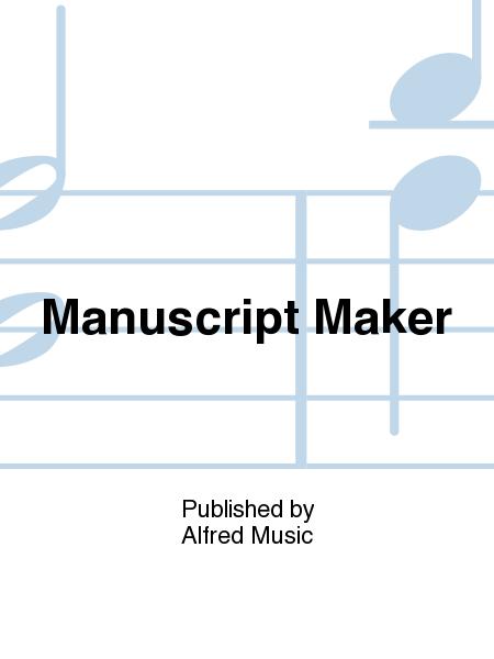 Manuscript Maker