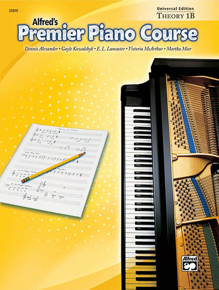 Alfred's Premier Piano Course: Universal Edition, Theory 1B