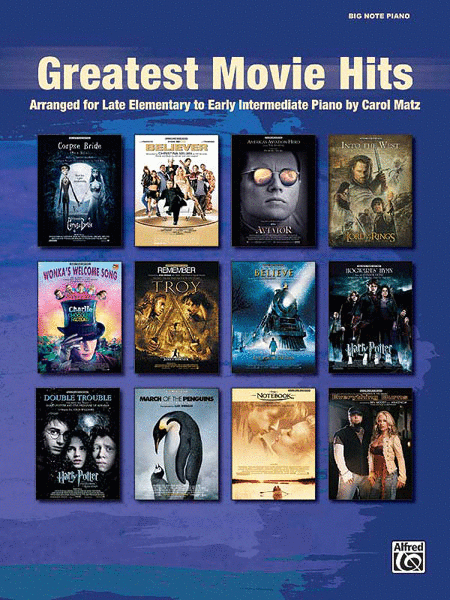 Greatest Movie Hits (Big Note Piano)