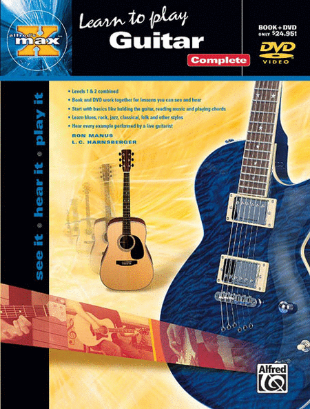 Food Book Cover Guitar : Alfred s max learn to play guitar complete book and dvd