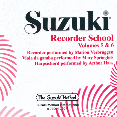 Suzuki Recorder School (Soprano and Alto Recorder), Volumes 5 & 6