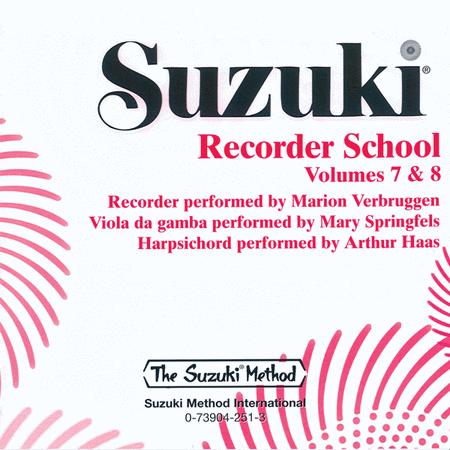 Suzuki Recorder School (Soprano and Alto Recorder), Volumes 7 & 8
