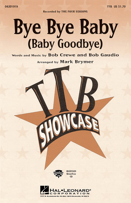 Bye Bye Baby (Baby Goodbye) - ShowTrax CD