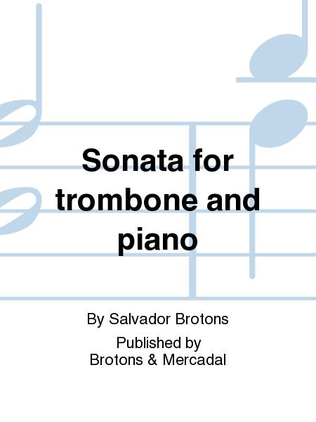 Sonata for trombone and piano