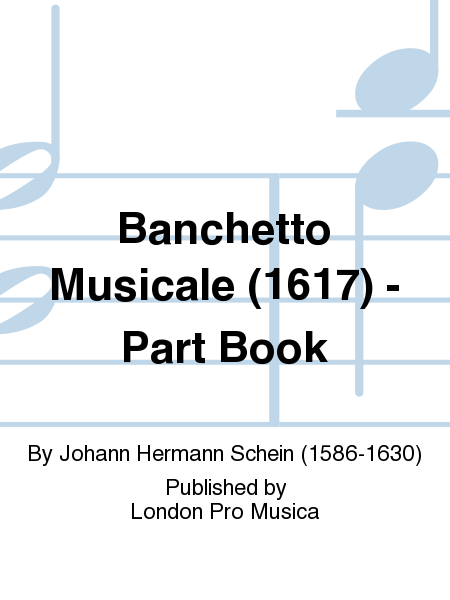 Banchetto Musicale (1617) - Part Book