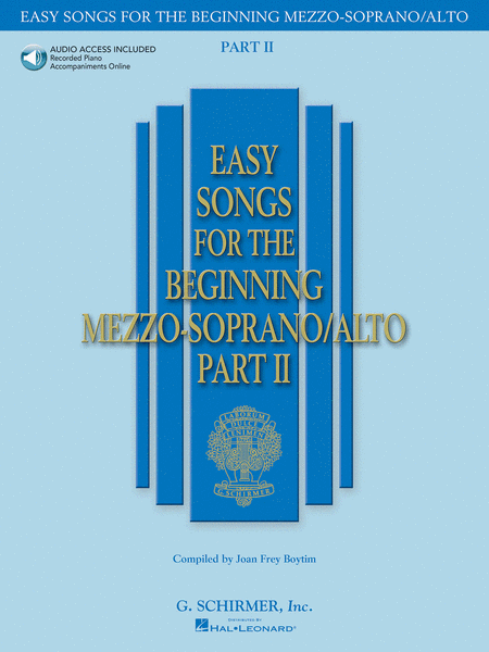 Easy Songs for the Beginning Mezzo-Soprano/Alto - Part II