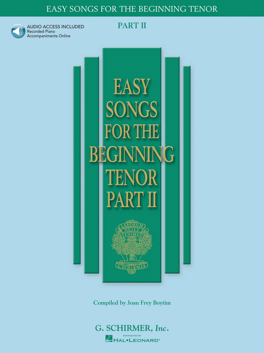 Easy Songs for the Beginning Tenor - Part II - Book/Online Audio