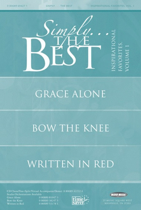 Simply The Best: Inspirational Favorites Volume 1