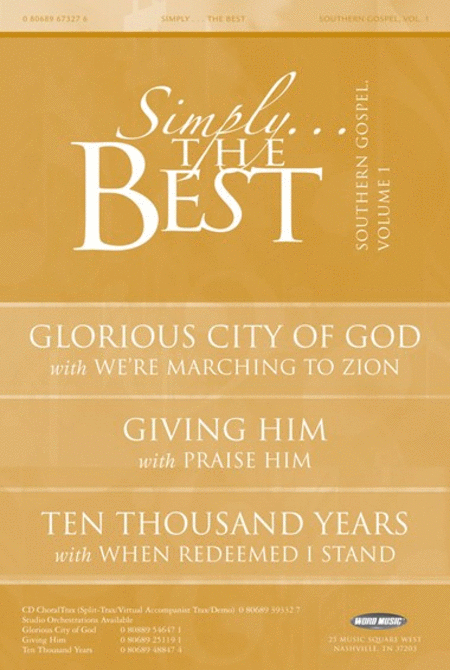 Simply The Best: Southern Gospel Volume 1