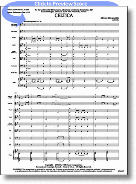 Celtica (for Solo Violin and String Orchestra)