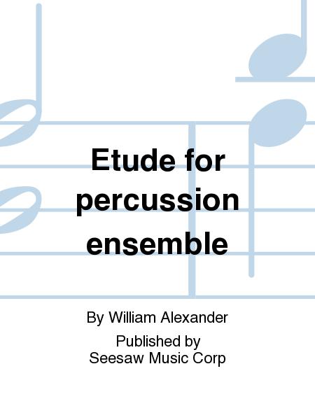 Etude for percussion ensemble