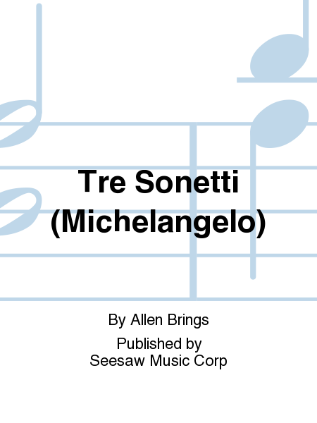 Tre Sonetti (Michelangelo)