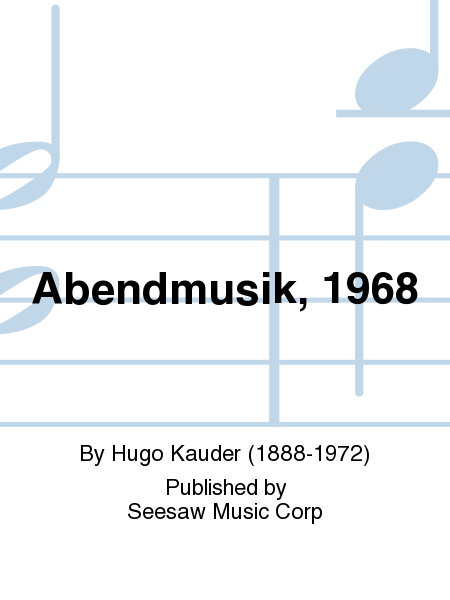 Abendmusik, 1968