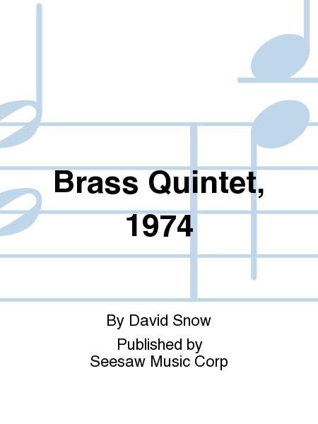 Brass Quintet, 1974