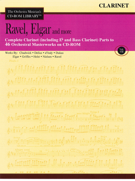Ravel, Elgar and More - Volume VII (Clarinet)