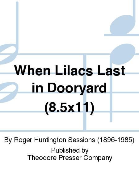 When Lilacs Last in Dooryard (8.5x11)