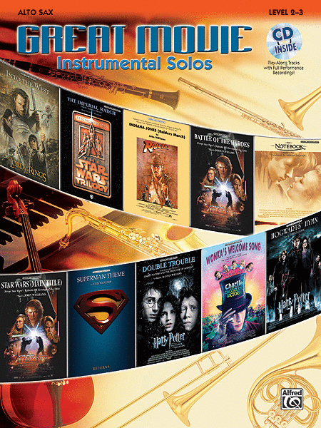 Great Movie Instrumental Solos - Alto Sax (Book & CD)
