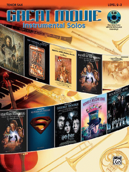 Great Movie Instrumental Solos - Tenor Sax (Book & CD)