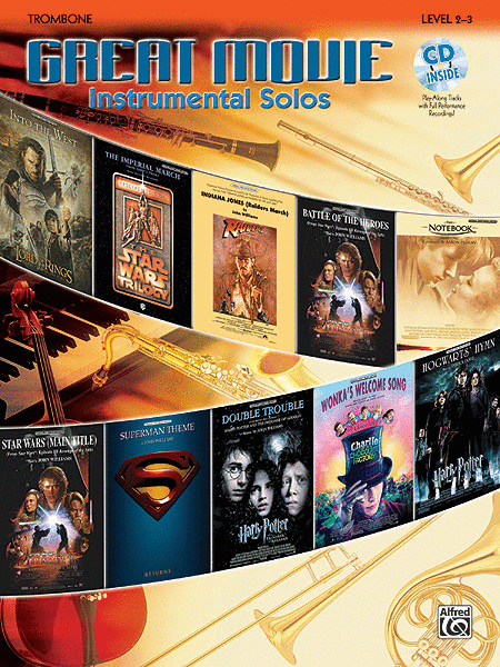 Great Movie Instrumental Solos - Trombone (Book & CD)