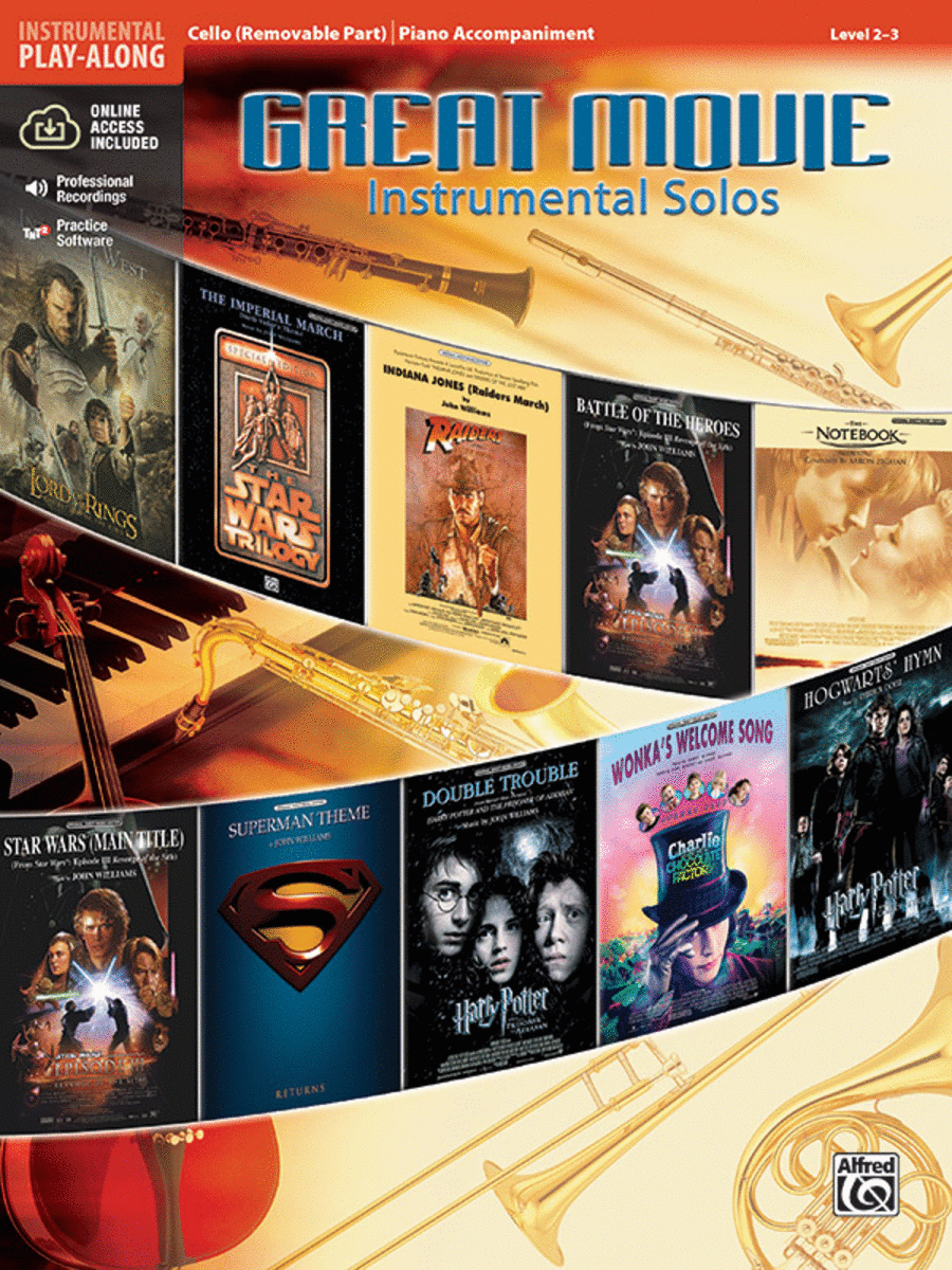 Great Movie Instrumental Solos - Cello (Book & CD)