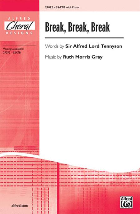 break break break sheet music by sir alfred lord tennyson music break break break